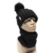 Зимен комплект - шапка и яка