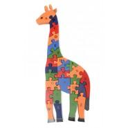 Дървен пъзел жираф