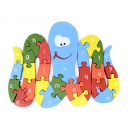 Дървен пъзел - октопод