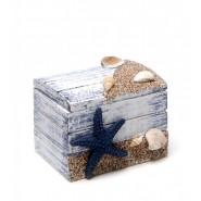 Дървена кутийка с морски мотиви