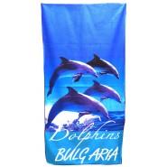 Плажна хавлия кърпа делфини