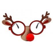 Коледни парти очила с еленски рога, уши и нос