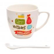 Коледна чаша с пожелания