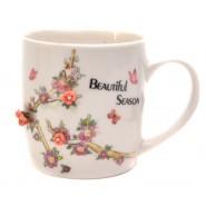 Керамична чаша с цветя