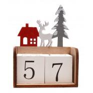 Вечен календар с елен и къщичка