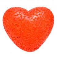 Светещо червено сърце