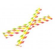 Двуцветни хартиени сламки
