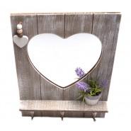 Дървена закачалка сърце