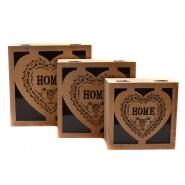 Комплект дървени кутии за съхранение