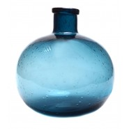 Стъклена ваза тъмносиня