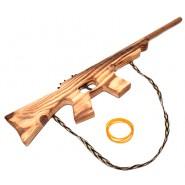 Дървена пушка с ластици