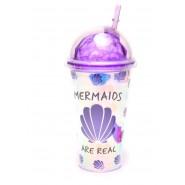 Чаша русалка със сламка