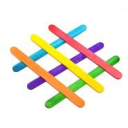 Цветни плоски пръчки