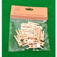 Комплект дървени щипки