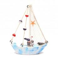 Декоративна лодка - морски елементи