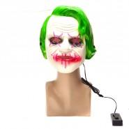 Светеща маска - зелена коса