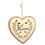 Светеща декорация - сърце, Love