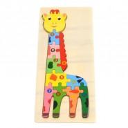 Дървен пъзел - жираф