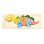 Дървен пъзел - динозавър