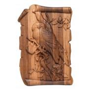 Луксозно пано с дърворезба - кукумявка