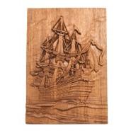 Луксозно пано с дърворезба - кораб