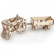 Механичен 3D пъзел - трактор с ремарке