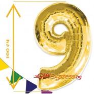 Златен балон - девет с размер