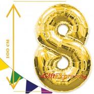 Златен балон - осем с размер