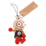 Висулка за телефон - дървена кукла