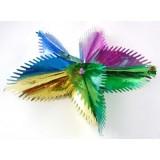 Разноцветна коледна звезда от фолио