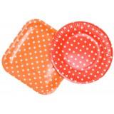 Картонени чинии - кръгли и квадратни на точки