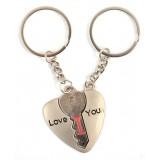 Ключодържатели - сърце и ключ