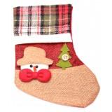 Декоративен чорап с коледни мотиви