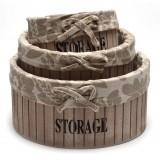Комплект дървени кутии