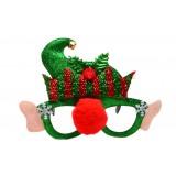 Коледни очила - червен нос